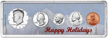 1971 Happy Holidays Coin Gift Set THUMBNAIL