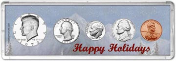 1973 Happy Holidays Coin Gift Set THUMBNAIL