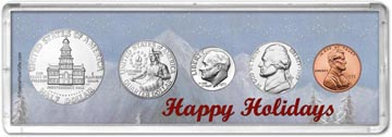 1975 Happy Holidays Coin Gift Set THUMBNAIL