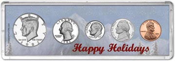 1982 Happy Holidays Coin Gift Set THUMBNAIL