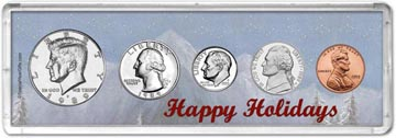 1989 Happy Holidays Coin Gift Set THUMBNAIL