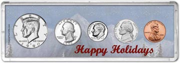 1990 Happy Holidays Coin Gift Set THUMBNAIL