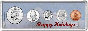 1995 Happy Holidays Coin Gift Set THUMBNAIL