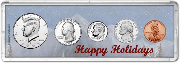 1997 Happy Holidays Coin Gift Set LARGE