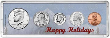 1999 Happy Holidays Coin Gift Set THUMBNAIL