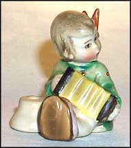 Angel, Joyous News With Accordion, M. I. Hummel Candle Holder MAIN