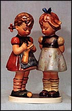 Knitting Lesson, M. I. Hummel Figurine MAIN