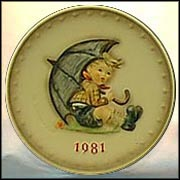 1981 Umbrella Boy, M. I. Hummel Annual Plate