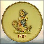 1987 Feeding Time, M. I. Hummel Annual Plate