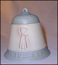 1997 Thanksgiving Prayer, M. I. Hummel Christmas Bell MAIN