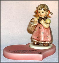 Come With Me with heart base, M. I. Hummel Figurine MAIN