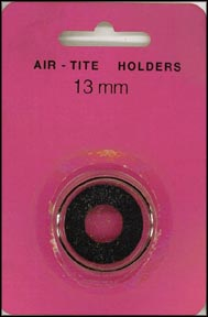 Air-Tite Coin Capsule, Model A, 13mm, black ring
