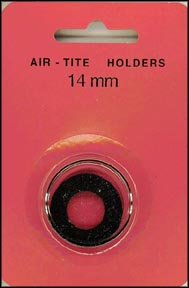 Air-Tite Coin Capsule, Model A, 14mm, black ring