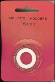 Air-Tite Coin Capsule, Model A, 16mm, white ring