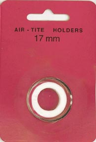 Air-Tite Coin Capsule, Model A, 17mm, white ring