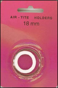Air-Tite Coin Capsule, Model A, 18mm, white ring