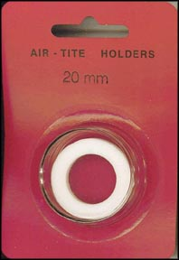 Air-Tite Coin Capsule, Model T, 20mm, white ring