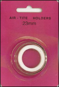Air-Tite Coin Capsule, Model T, 23mm, white ring