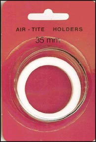 Air-Tite Coin Capsule, Model I, 35mm, white ring