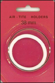 Air-Tite Coin Capsule, Model I, 38mm, white ring