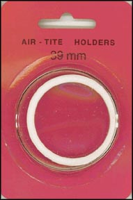 Air-Tite Coin Capsule, Model I, 39mm, white ring