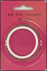 Air-Tite Coin Capsule, Model I, 40mm, white ring