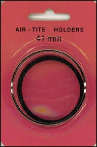 Air-Tite Coin Capsule, Model I, 41mm, black ring