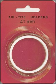 Air-Tite Coin Capsule, Model I, 41mm, white ring