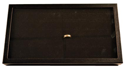 Chipboard Display Case, 72 Ring Tray
