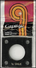 Capital Plastics #144 1/2 Gold Eagle, Black