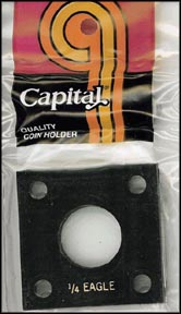Capital Plastics #144 1/4 Gold Eagle, Black