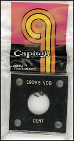 Capital Plastics #144 1909 S VDB Cent, Black