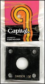 Capital Plastics #144 Barber Dime, Black