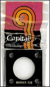 Capital Plastics #144 Barber Half Dollar, Black