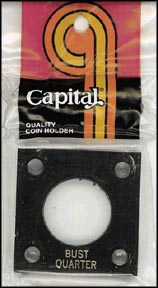 Capital Plastics #144 Bust Quarter, Black