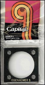 Capital Plastics #144 Eisenhower Dollar, Black