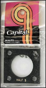 Capital Plastics #144 Half Dollar, Black