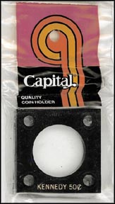 Capital Plastics #144 Kennedy Half Dollar, Black