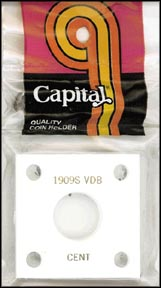 Capital Plastics #144 1909 S VDB Cent, White