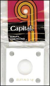 Capital Plastics #144 Buffalo Nickel, White
