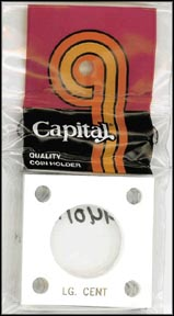 Capital Plastics #144 Large Cent, White