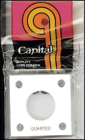 Capital Plastics #144 Quarter, White