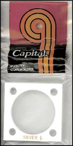 Capital Plastics #144 Silver Dollar, White