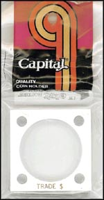 Capital Plastics #144 Trade Dollar, White