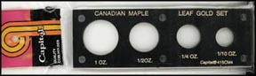 Capital Plastics #415CM, Canada Maple Leaf Gold, 1 oz - 1/10 oz, Black