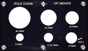 Capital Plastics #433J, Gold Coins of Mexico, Black