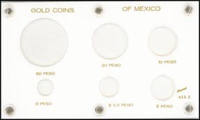 Capital Plastics #433J, Gold Coins of Mexico, White