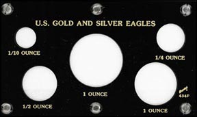 Capital Plastics #434F, Gold and Silver Eagles, Black