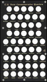Capital Plastics #400 Washingtion Statehood Quarters, Black