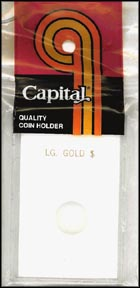 Capital Plastics CAPS holder for a Large Gold Dollar, White